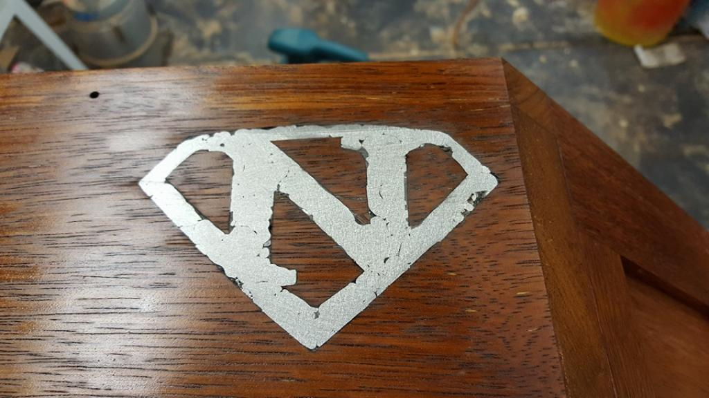 Superman bedside table
